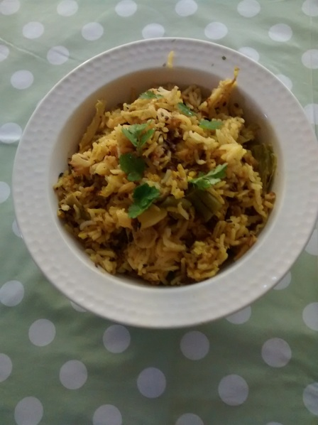 spicy cabbage and rice